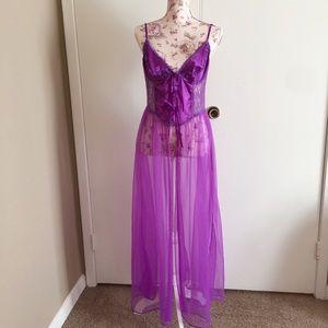 Vintage purple gown.